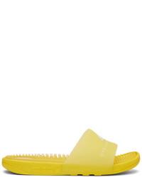 Yellow Rubber Flat Sandals