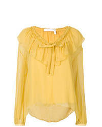 See by Chloe See By Chlo V Neck Ruffle Blouse