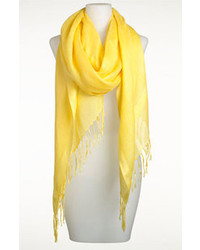 Nordstrom Linen Blend Scarf Primrose Yellow One Size One Size