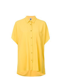 Yellow Short Sleeve Button Down Shirt