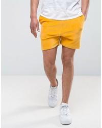 Asos Shorts In Yellow Velour
