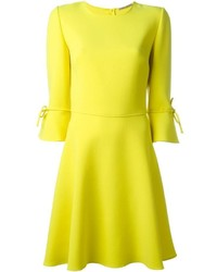 Ermanno Scervino Bow Cuff Skater Dress