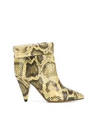 Isabel Marant Snakeskin Ankle Boots