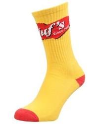 HUF Mustard Socks Yellow
