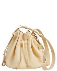 Yellow Suede Bucket Bag