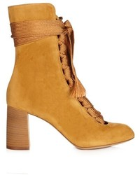 Chloé Chlo Harper Lace Up Suede Ankle Boots