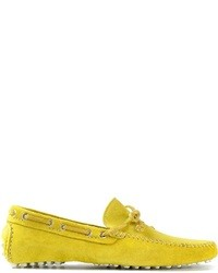 Yellow Suede Loafers