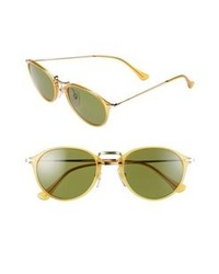 Persol 51mm Defined Bridge Sunglasses Yellow One Size