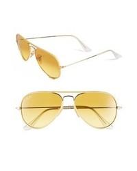 Ray-Ban Aviator 58mm Sunglasses Yellow Large