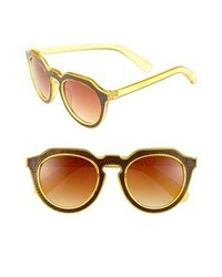A.J. Morgan Zipster Sunglasses Yellow Brown One Size