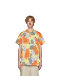 Yellow Tie-Dye Crew-neck T-shirt
