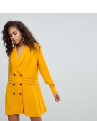 Asos Tall Asos Design Tall Tux Mini Dress With Pleat Detail
