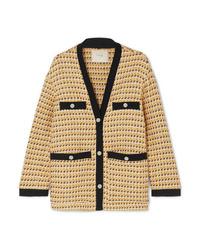 Maje Metallic Cotton Blend Tweed Jacket