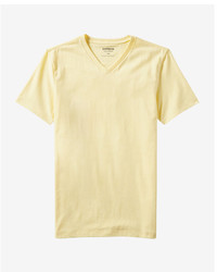 Yellow V-neck T-shirt