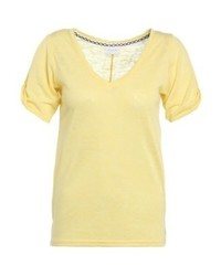 Vila Uran Basic T Shirt Lemon Zest