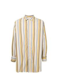 Jieda Oversized Stripe Print Shirt