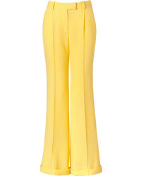 Yellow Wide Leg Pants